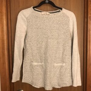 Loft gray & black sweater